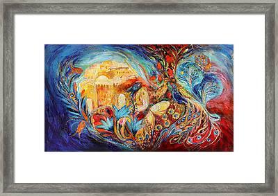The Sky Of Eternal City Framed Print by Elena Kotliarker