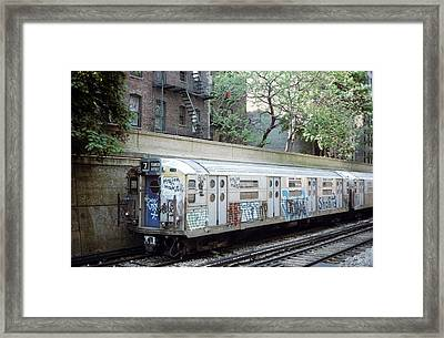 The Subway In The 70s Framed Print by Jim Poulos