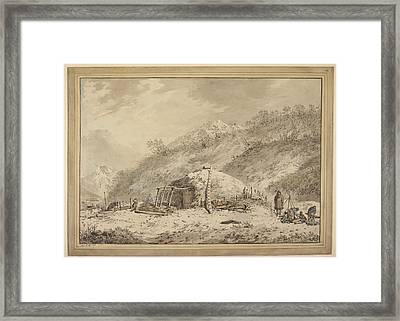 The Third Voyage Of Captain Cook Framed Print by British Library