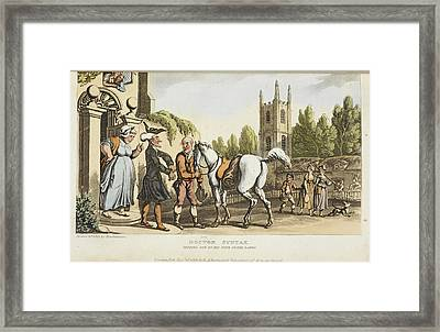 The Tour Of Doctor Syntax Framed Print