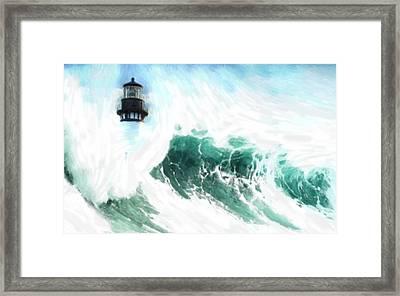 The Wave Framed Print by Steve K