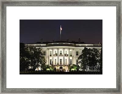 The White House Framed Print by John Greim