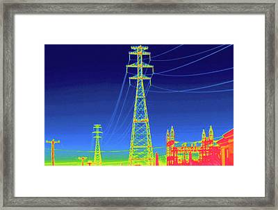 Thermogram Framed Print