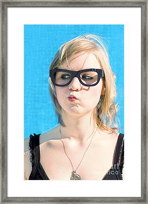 Thinking Woman Framed Print