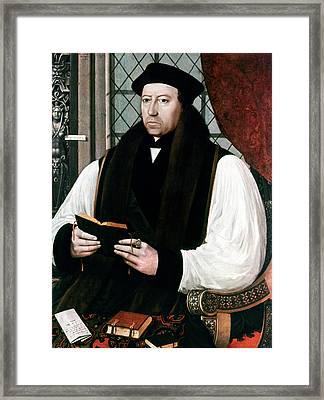 Thomas Cranmer (1489-1556) Framed Print by Granger