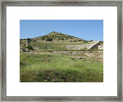 Thorikos Theatre Framed Print by Andonis Katanos