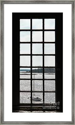 Through An Old Window Framed Print by Olivier Le Queinec
