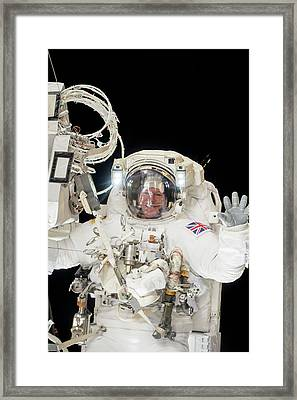 Tim Peake's Spacewalk Framed Print