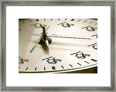 Time Is Money Framed Print by Ktsdesign