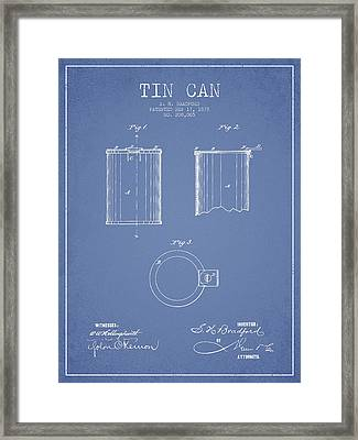 Tin Can Patent Drawing From 1878 Framed Print