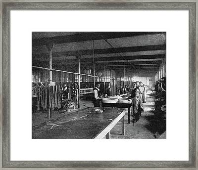 Tire Factory, 1897 Framed Print by Granger