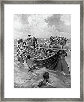 Titanic Lifeboats, 1912 Framed Print