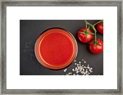 Tomato Juice Framed Print