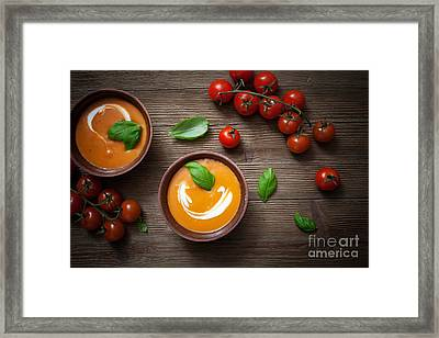 Tomato Soup Framed Print by Kati Molin
