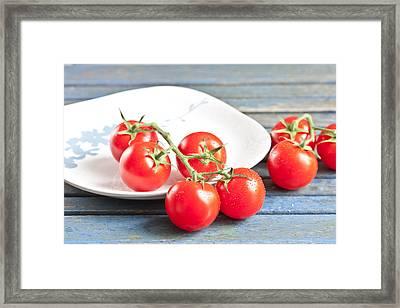 Tomatoes Framed Print by Tom Gowanlock