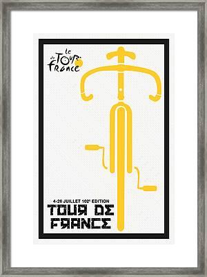 Tour De France 2015 Minimalist Poster Framed Print by Adam Asar