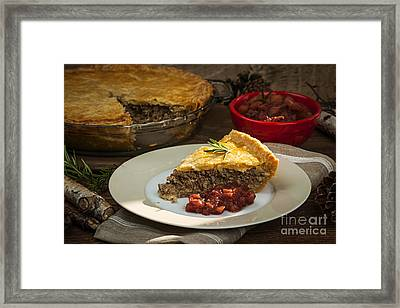 Tourtiere Meat Pie Framed Print by Elena Elisseeva