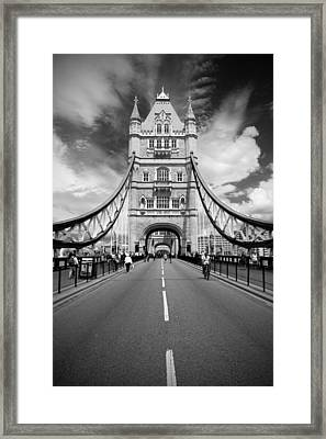 Framed Print featuring the photograph Tower Bridge In London by Chevy Fleet