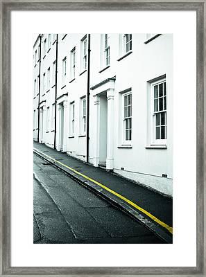 Town Houses Framed Print