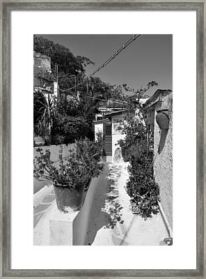 Traditional Houses In Anafiotika Framed Print
