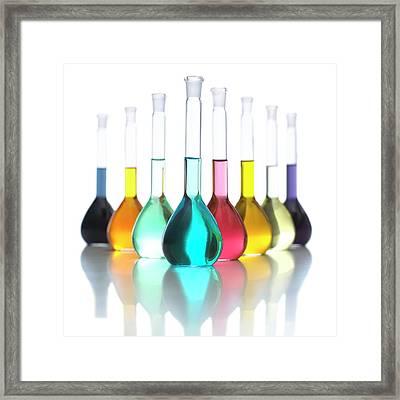Transition Element Salts In Solution Framed Print