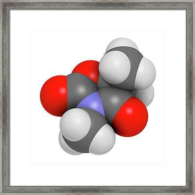 Trimethadione Anticonvulsant Drug Framed Print by Molekuul