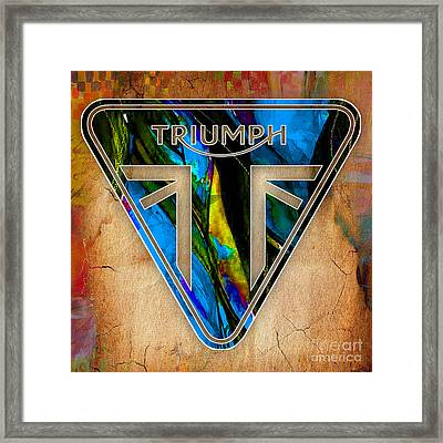 Triumph Motorcycle Badge Framed Print
