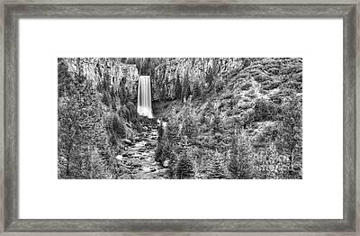 Tumalo Falls Framed Print by Twenty Two North Photography