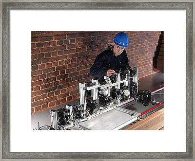 Tunnel Inspection System Simulator Framed Print