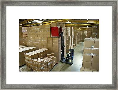 Tupperware Factory Framed Print by Philippe Psaila