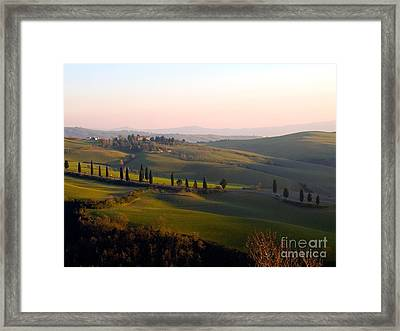 Tuscan Countryside Framed Print by Tim Holt