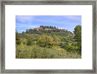 Tuscany - Montepulciano Framed Print by Joana Kruse