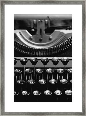 Typewriter Framed Print by Falko Follert