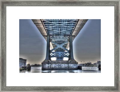 Under The Bridge - Ben Franklin, Philadelphia Framed Print