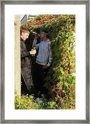 Underage Drinking Framed Print by Public Health England