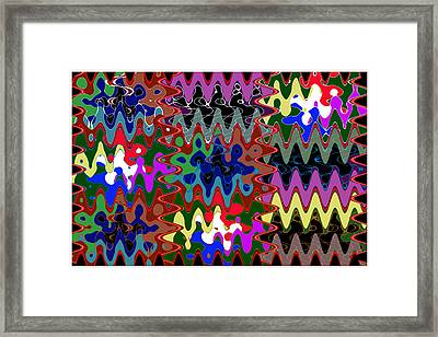 Unique Colorful Abstract Wave Art Graphic Colors Shades And Tone Created By Artist Navinjoshi   Buy  Framed Print