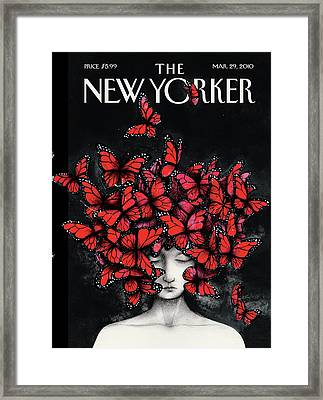 New Yorker March 29th, 2010 Framed Print by Ana Juan