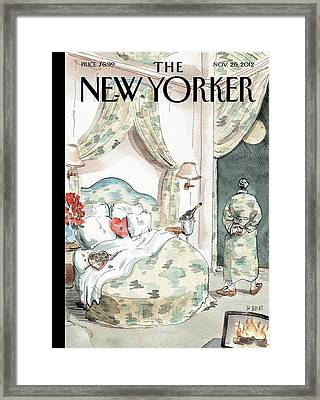 New Yorker November 26th, 2012 Framed Print by Barry Blitt