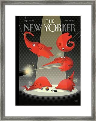 New Yorker January 16th, 2012 Framed Print