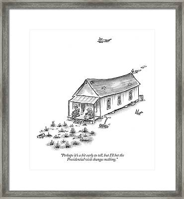 Perhaps It's A Bit Early To Tell Framed Print