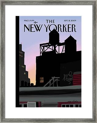 New Yorker September 21st, 2009 Framed Print by Jorge Colombo-Gomes