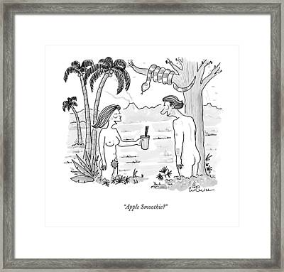 Apple Smoothie? Framed Print