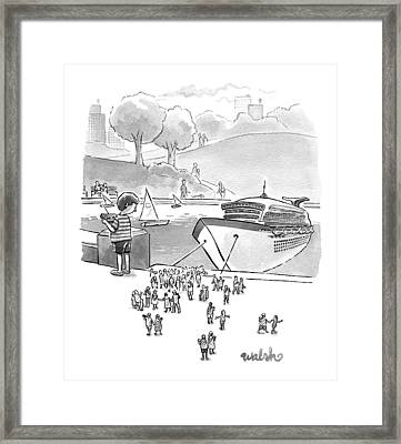 New Yorker August 8th, 2016 Framed Print by Liam Walsh