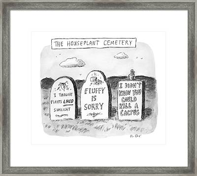 New Yorker December 19th, 2016 Framed Print by Roz Chast