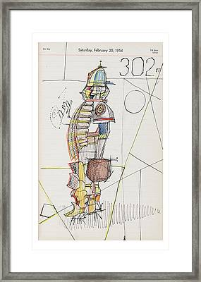 New Yorker October 24th, 2005 Framed Print by Saul Steinberg