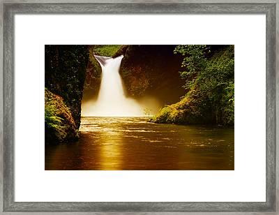 Upper Punch Bowl Falls Framed Print by Jeff Swan