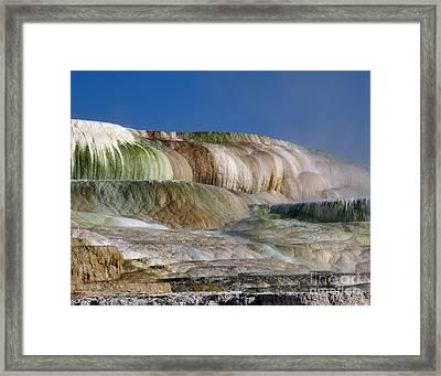 Upper Terrace At Mammoth Hot Springs Framed Print