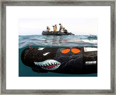 Us Navy Underwater Mine Clearance Drone Framed Print by U.s. Navy