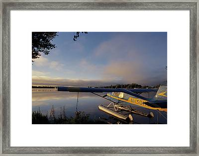 Usa, Alaska, Float Plane, Anchorage Framed Print