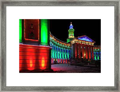 Usa, Colorado, Denver, Denver City Framed Print by Walter Bibikow